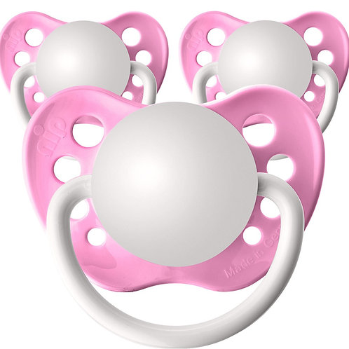 Baby Name Pacifiers - 3 Pk Light Pink, Ulubulu, Personalized Pacifiers