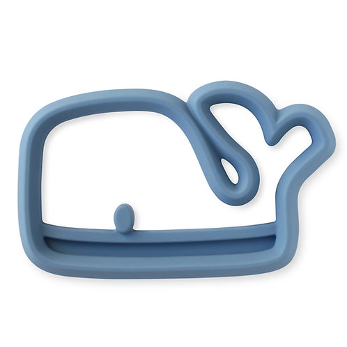 Blue whale silicone teether