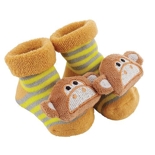 Stephan Baby monkey rattle socks