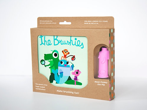 The Brushies Book and Brush gift set, Pinkey the Pig