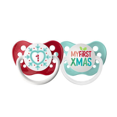 Snowflake & My 1st Christmas Pacifier Set