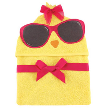Hudson Baby Cool Chick Animal Face Hooded Towel