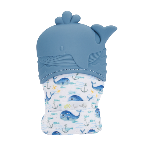 Whale Itzy Mitzies - teething mitt for baby, teething glove, chewing mitt