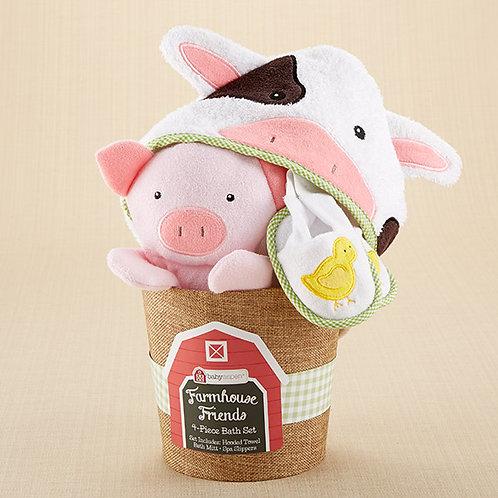 Farmhouse Friends 4-Piece Bathtime Bucket