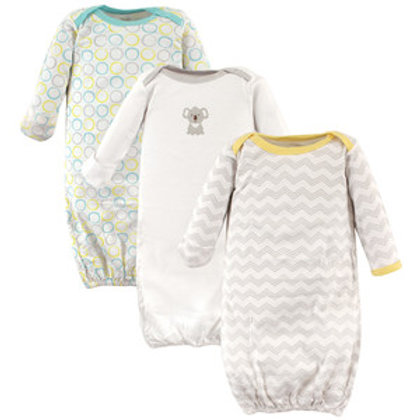 Koala 3 Pack Infant Gowns