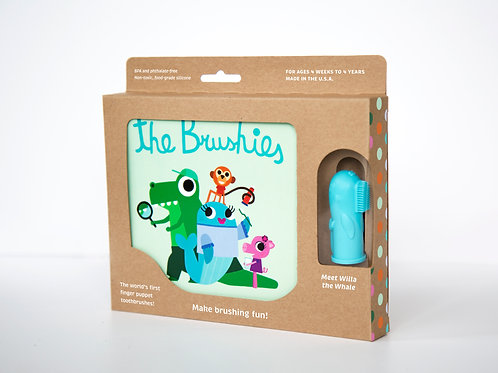 The Brushies Book and Brush Gift Set, Willa the Whale