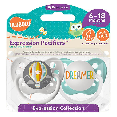 Hot Air Balloon & Dreamer Pacifier Set by Ulubulu