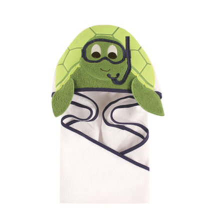 Hudson Baby Scuba Turtle Animal Face Hooded Towel