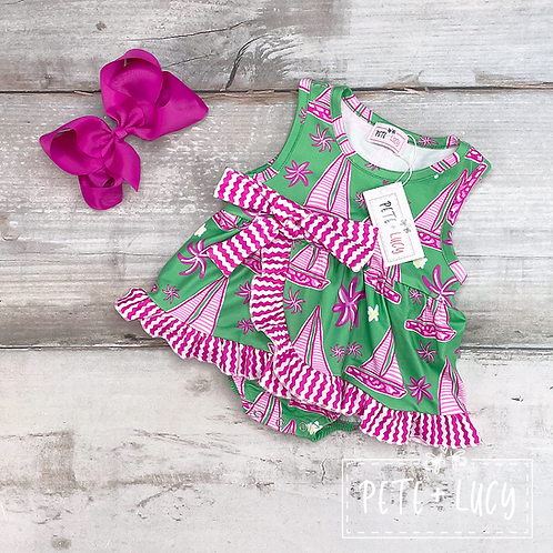 Summer Sailing Collection, Baby Girl Romper