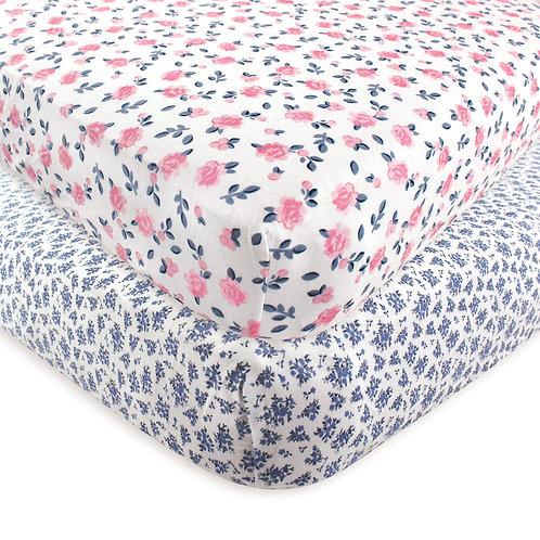 Hudson Baby Floral Crib Sheet