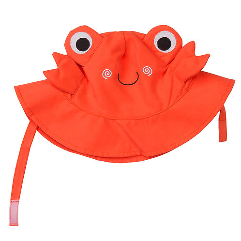 Crab sun hat for baby