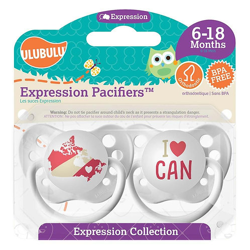 Map of Canada / I <3 CAN Pacifier Set