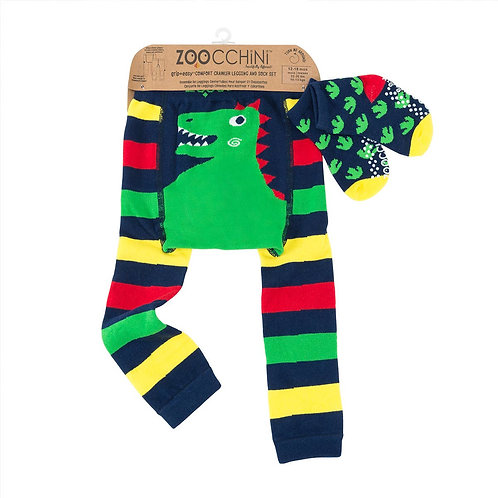 Devin the Dinosaur Legging and Sock set by Zoocchini