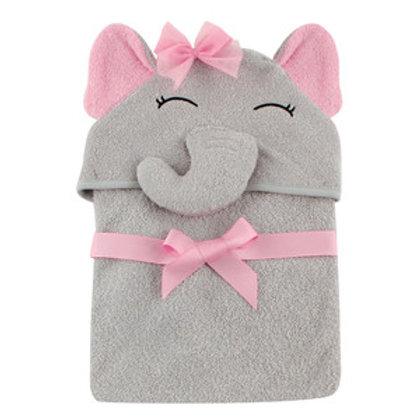 Hudson Baby Pretty Elephant Animal Hooded Towel
