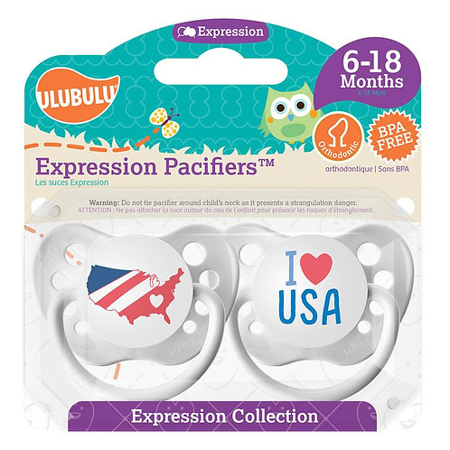 I Love USA Pacifier Set by Ulubulu