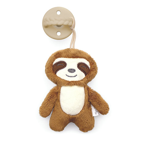Sloth Sweetie Pal Pacifier with Animal Friend