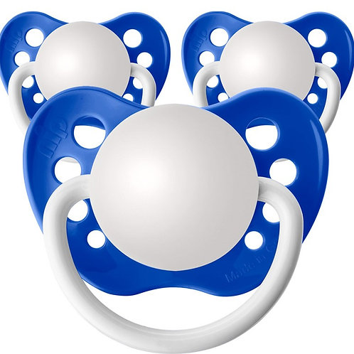 Baby Name Pacifiers - 3 Pk Dark Blue, Ulubulu, Personalized Pacifiers
