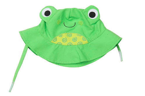 UPF50+ Sunhat - Flippy the Frog, Frog Sun Hat for Baby