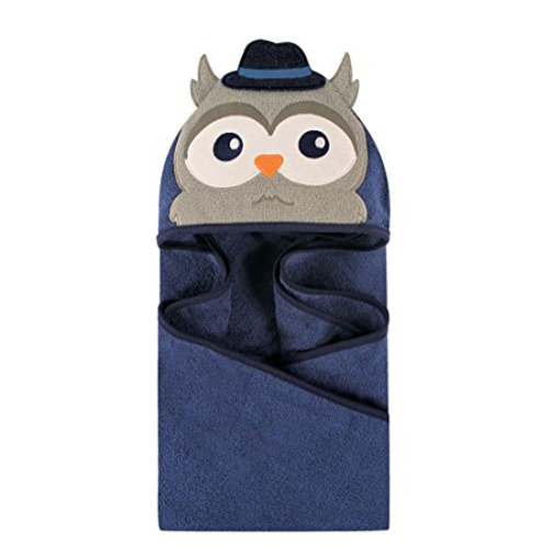 Mr. Owl Animal Face Hooded Towel
