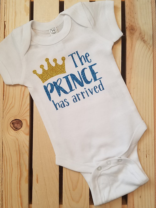The Prince Has Arrived Onesie for Baby Boy