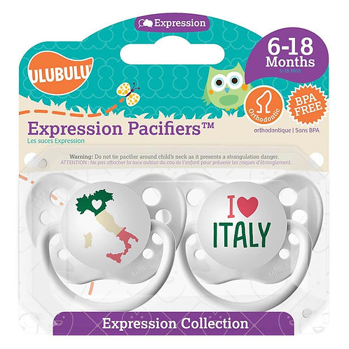 Map of Italy / I <3 Italy Pacifier Set