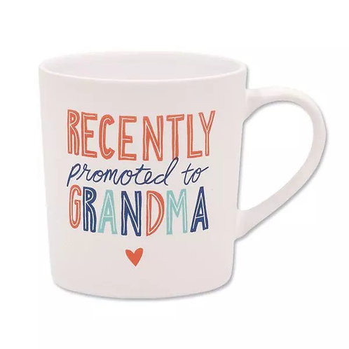 Recently Promoted to Grandma Coffee Mug - Pregnancy Announcement Gift