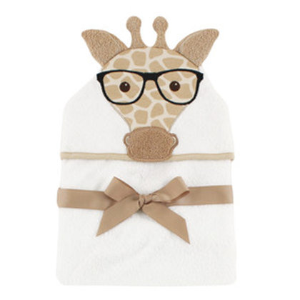 Hudson Baby Nerdy Giraffe Animal Face Hooded Towel