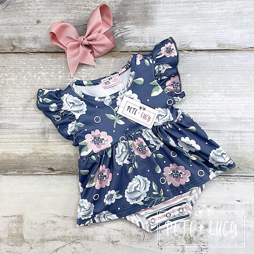 Midnight Rose Collection, Baby Girl Romper