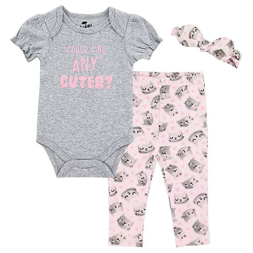 Could I Be Any Cuter 3 Piece Outfit for baby girl