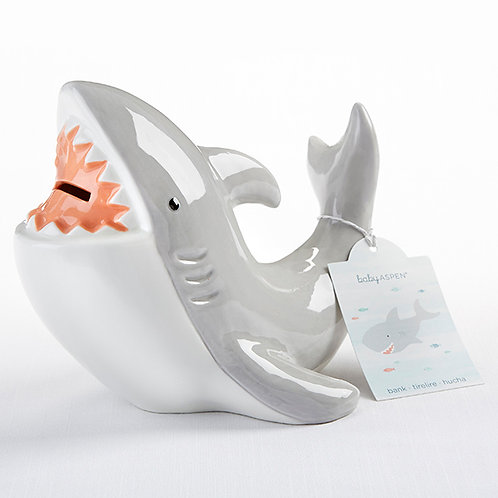 Shark Ceramic Coin Bank by Baby Aspen