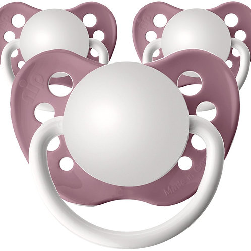 Baby name pacifiers, 3 pack nectar pink