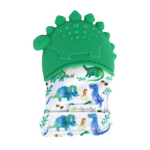 Dinosaur Teething mitt by Itzy Mitzies