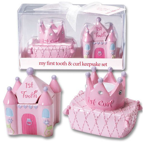 Princess Gift Set for baby, My First Tooth and My First Curl