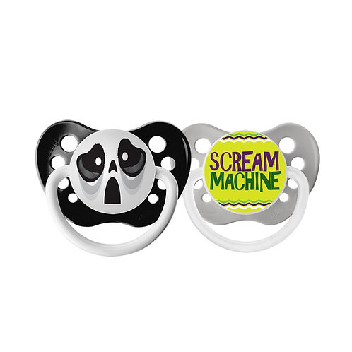 Ghost & Scream Machine Halloween Holiday Pacifier Set