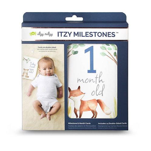 Itzy Milestone Cards Blue Woodland