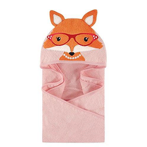 Mrs. Fox Animal Face Hooded Towel