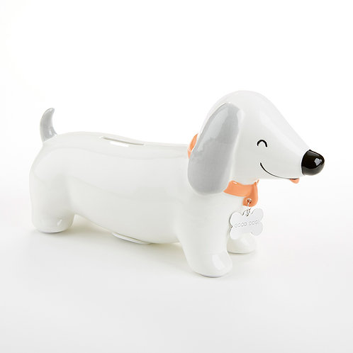 Puppy Ceramic Coin Bank by Baby Aspen