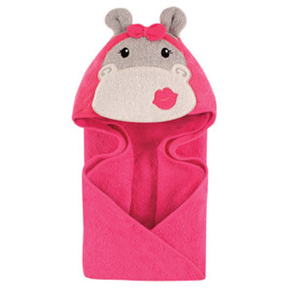 Hudson Baby Hip Hippo Animal Face Hooded Towel
