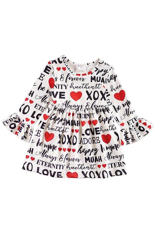 Sweetheart XOXO Dress - Valentine's Day