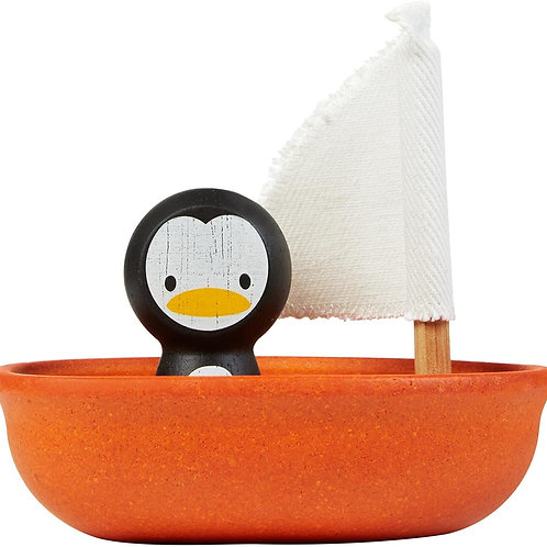 Plan Toys Sailboat with Penguin