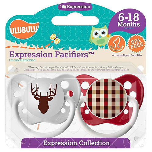 Deer Silhouette & LumberJack Plaid Pacifier Set