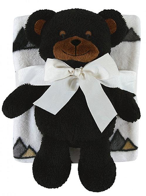 Black Bear Blanket & Toy Set