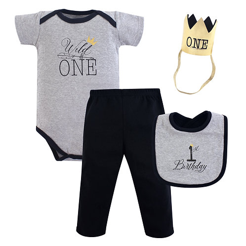 Hudson Baby First Birthday Outfit, Wild One