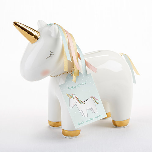 Unicorn Ceramic Coin Bank by Baby Aspen