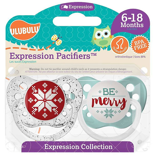 Snowflake & Be Merry Christmas Pacifier Set for Baby