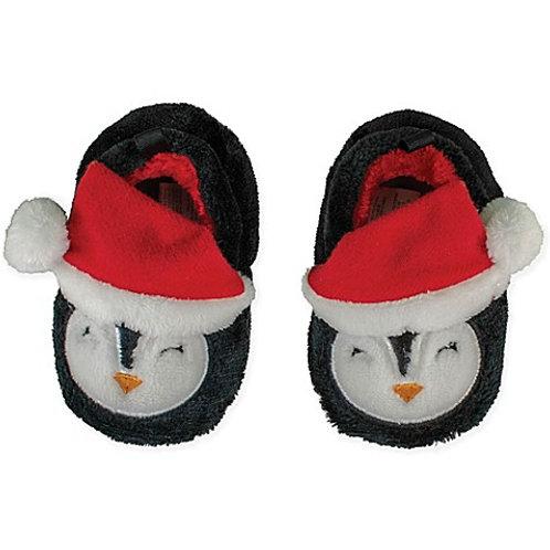 Penguin Santa Slippers