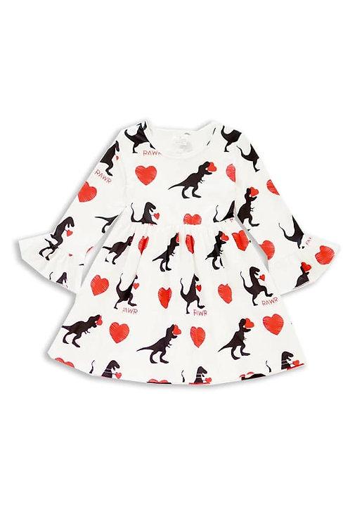 Dino Hearts Dress - Valentine's Day