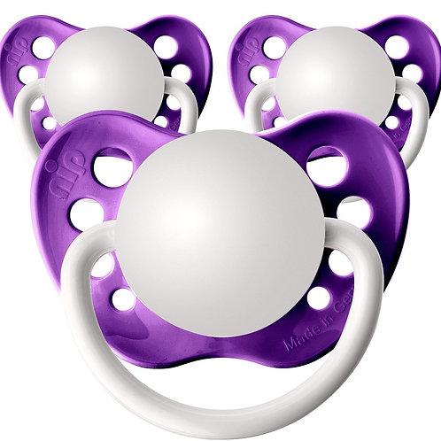 Baby Name Pacifiers - 3 Pk Grape, Ulubulu, Personalized Pacifiers