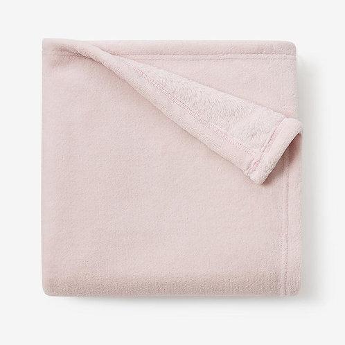 Chalk Pink Simplet Fleece Baby Blanket by Elegant Baby