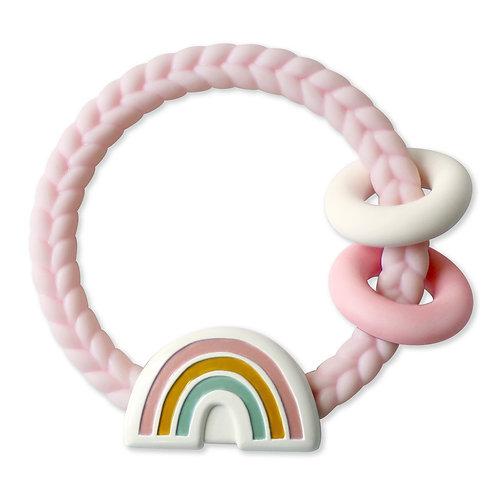 Itzy Ritzy Ritzy Rattle Pink Rainbow